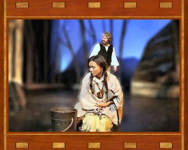 Actors playing Sacagawea and Charbonneau