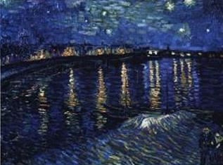 Starry Night Over the Rhine by Vincent Van Gogh